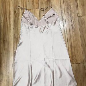 VICTORIA'S SECRET Satin Chemise Nightgown Size M